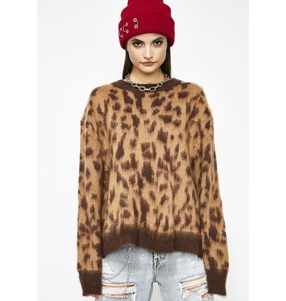 No Mercy Leopard Sweater