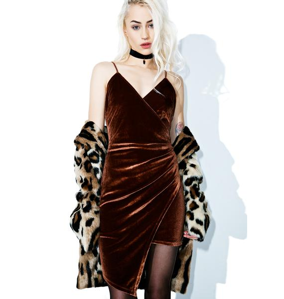 Ciara Asymmetrical Velvet Dress