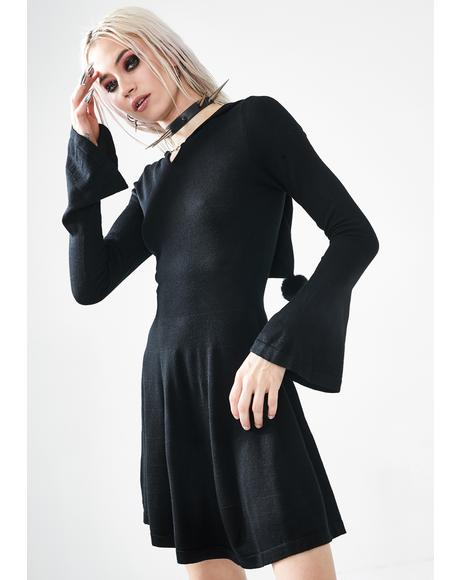Dark Witch Woolen Dress