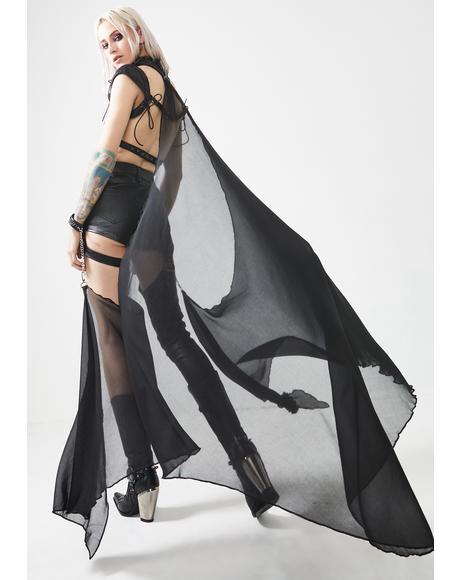 Dark Night Knight Sheer Kimono