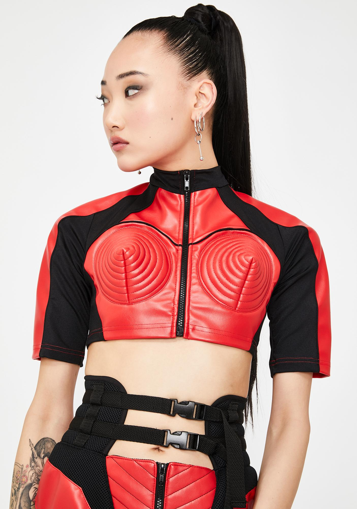 Namilia Red Motocross Cone Top