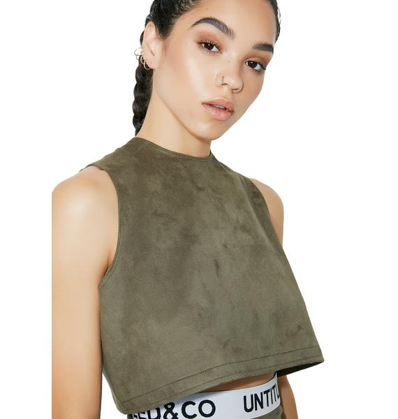 Untitled & Co Military Petal Top