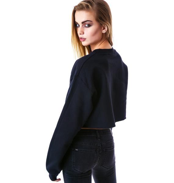 Public Enemy Cropped Sweatshirt