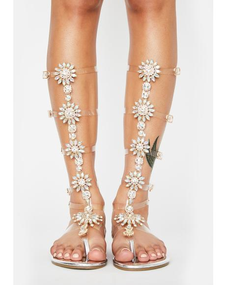 Zillow Jeweled Sandals