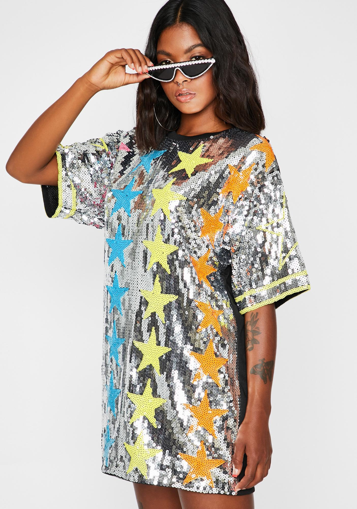 Starlight Starbright Sequin T-Shirt Dress