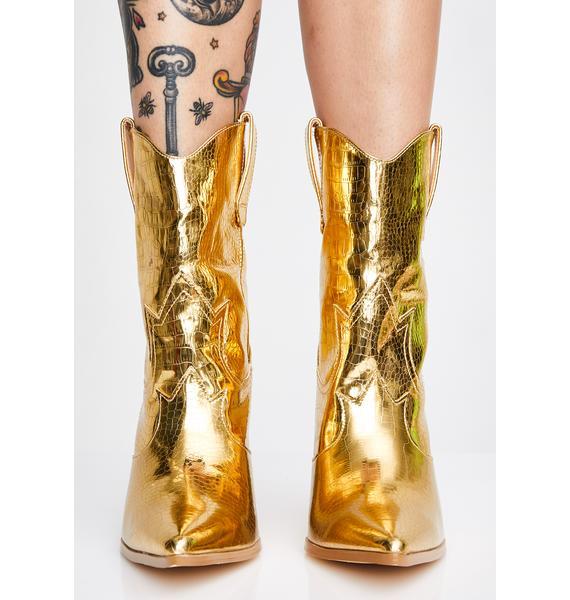 Gold Rush Cowboy Boots