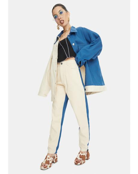 Two-Tone Mom Jeans