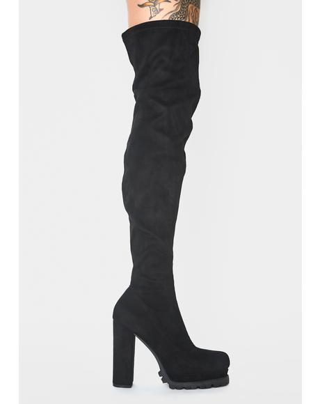 Suede Hey Hottie Thigh High Boots