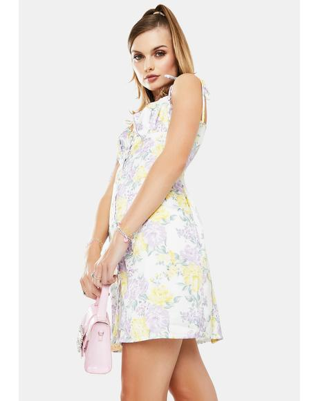 Multi Chintz Sateen Mini Dress