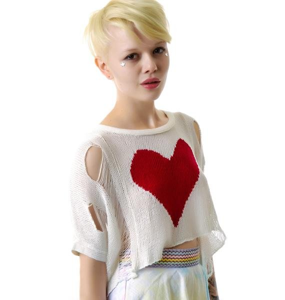 Destroy My Heart Cropped Sweater