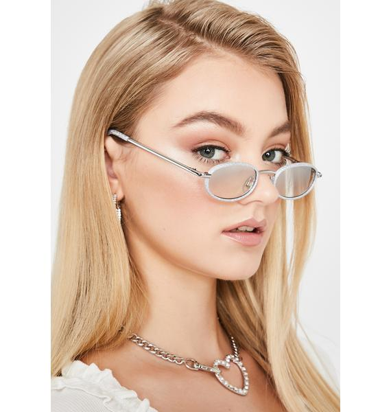 Replay Vintage Sunglasses Cosmic Lure Them In Glitter Sunglasses