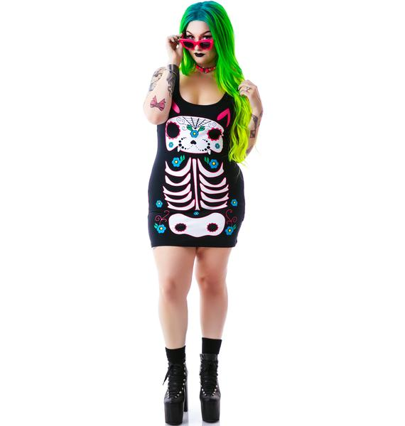 Day of the Dead Kitty Dress