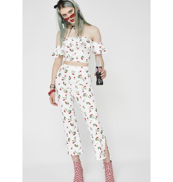Cherry Amour Crop Top