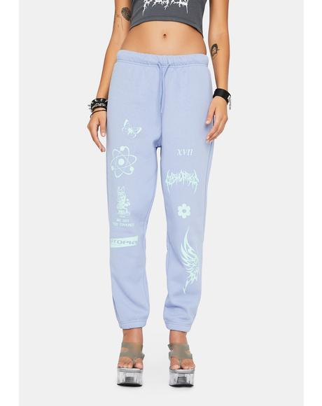 Pale Blue Jogger Sweatpants