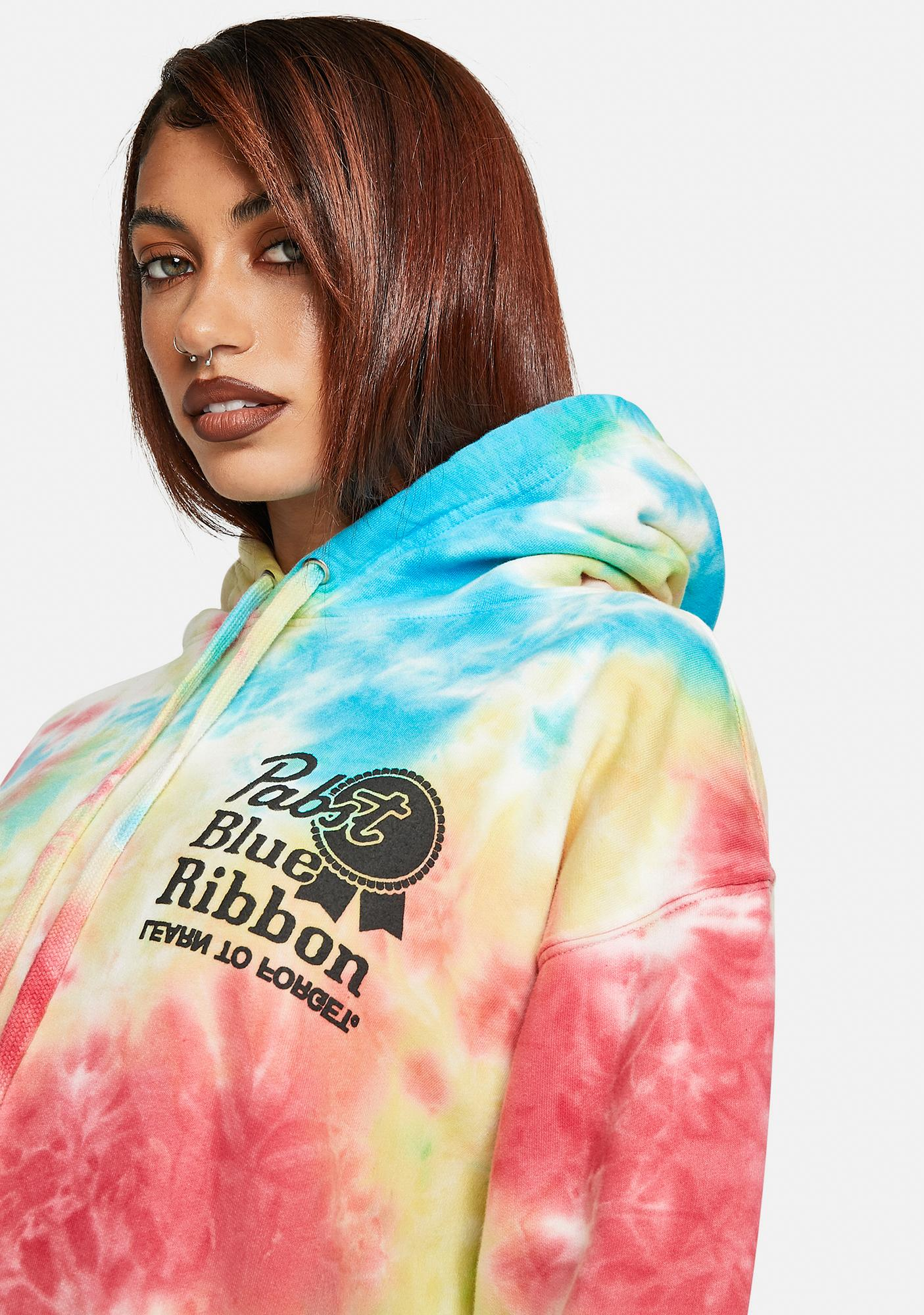 Learn To Forget  x PBR Vintage Logo Tie Dye Hoodie