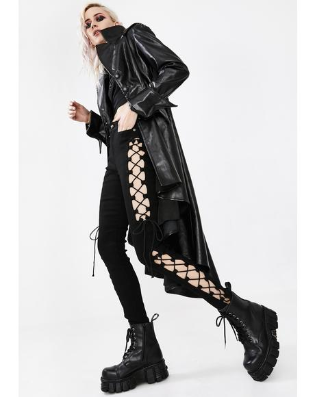 Punk Split Hollow Out Trousers