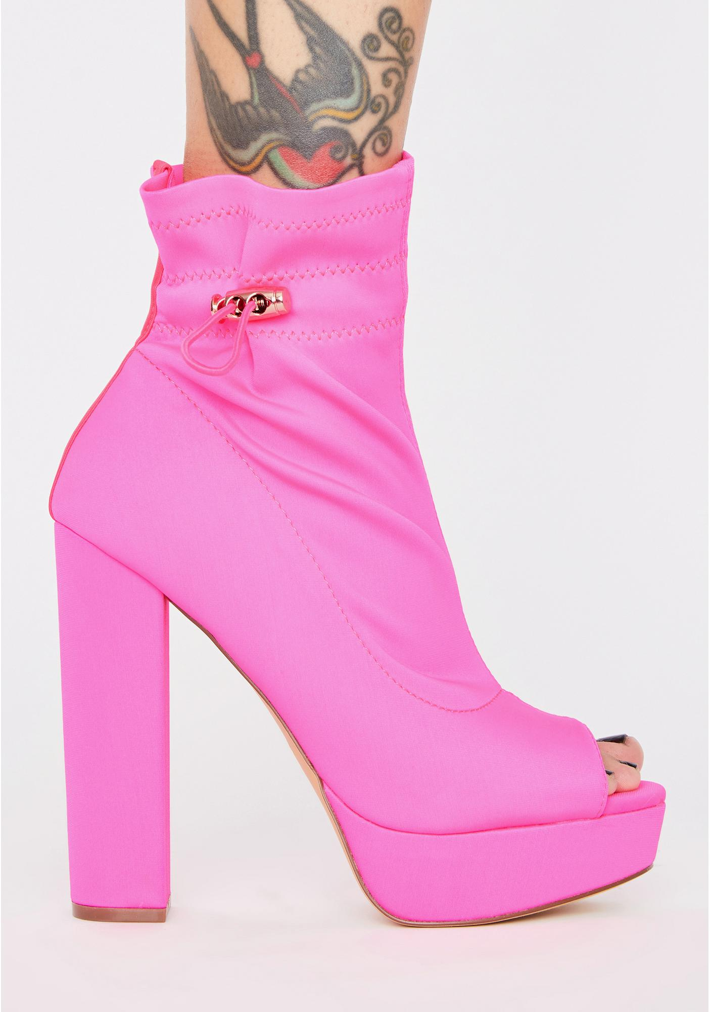 Sweet Natural Beauty Platform Heels