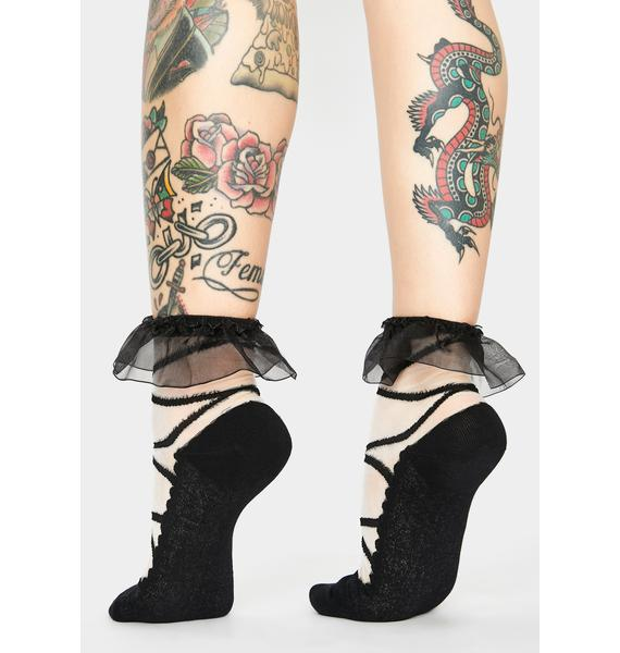 Night Your Babydoll Sheer Ankle Socks