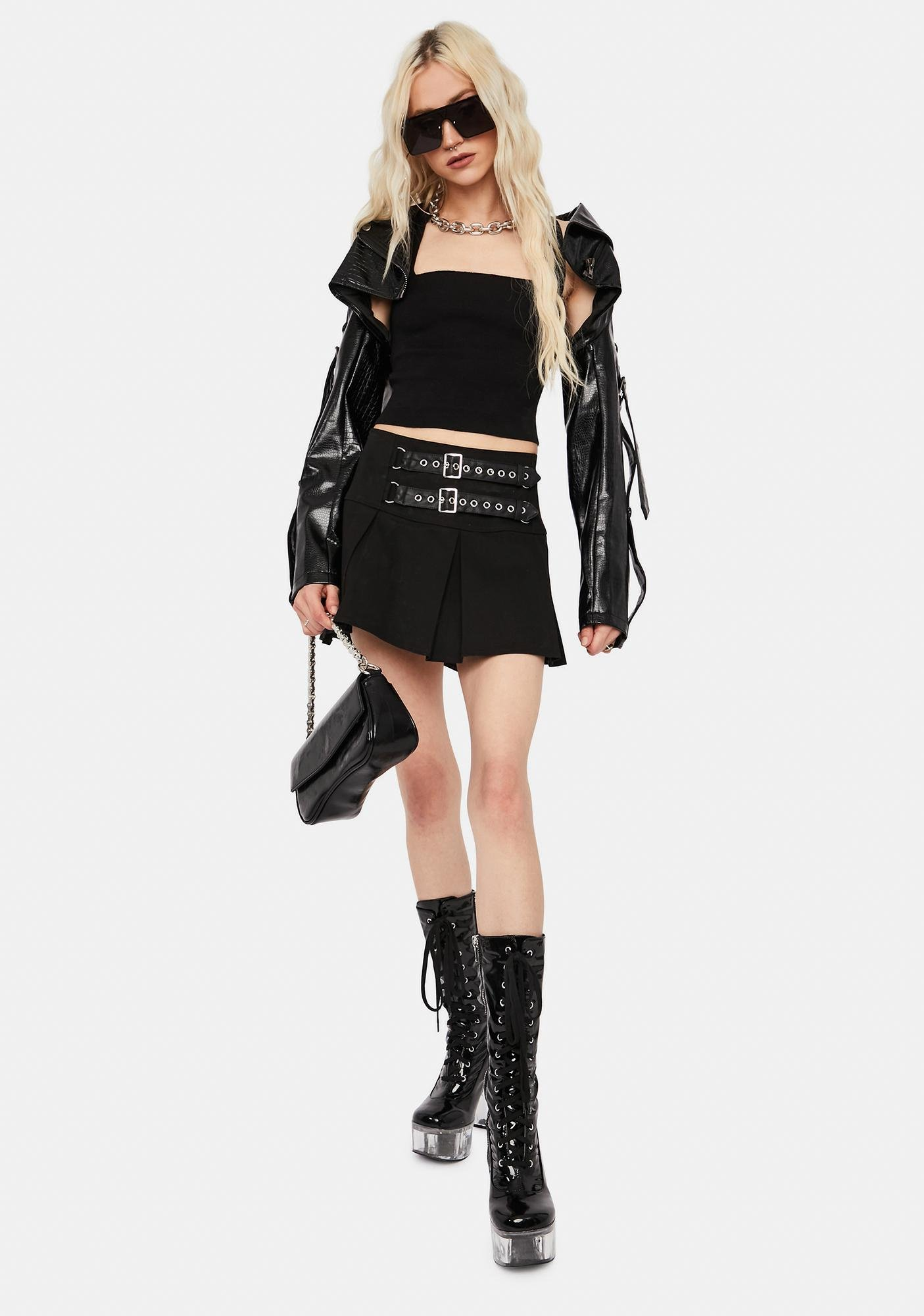 Almost Grown Lace Up Crop Top