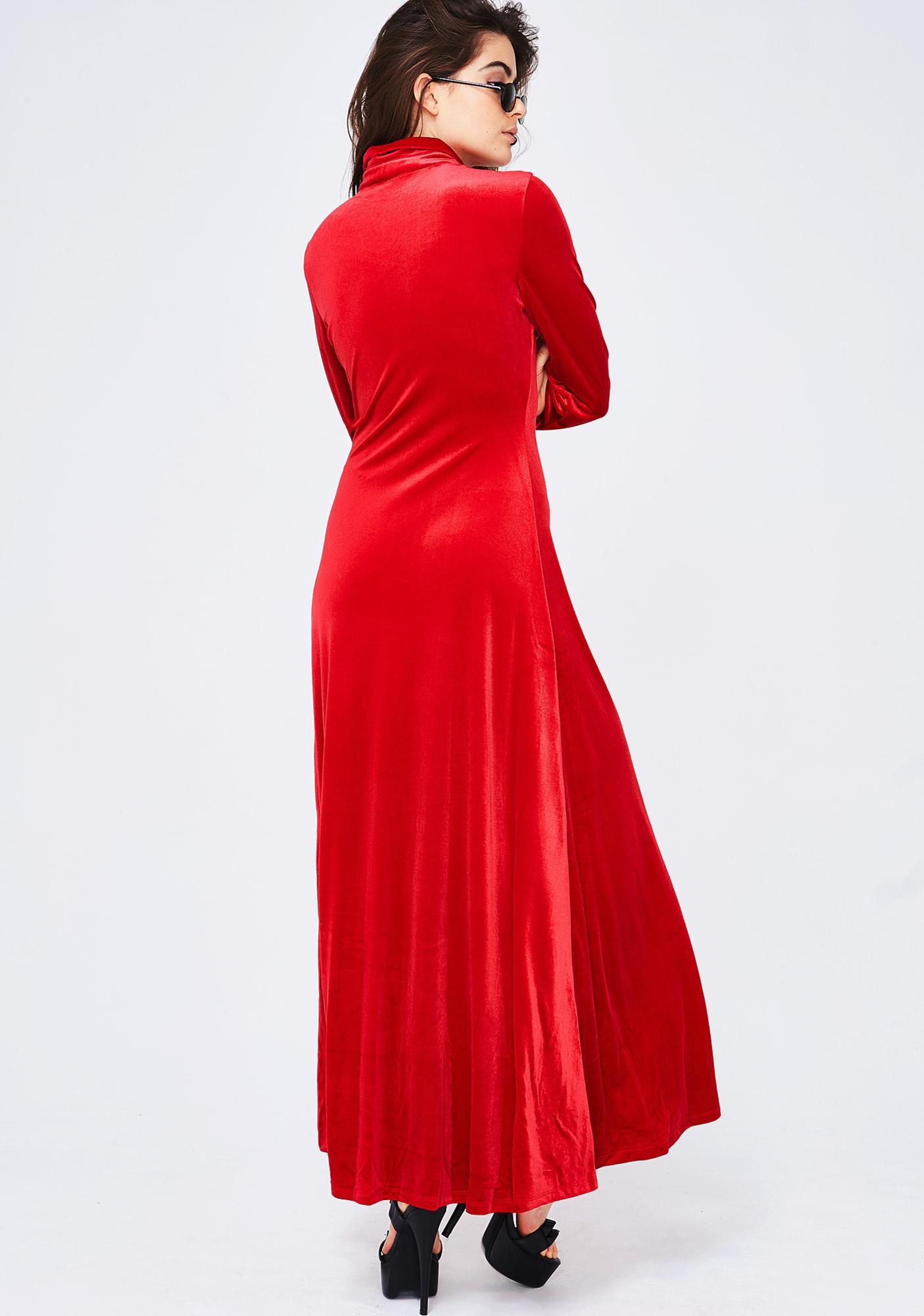 In Charge Velvet Dress