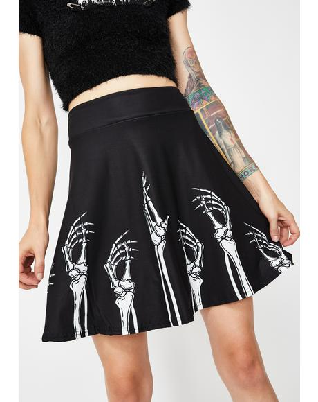 Hands Up N' Skirts Down Skater Skirt