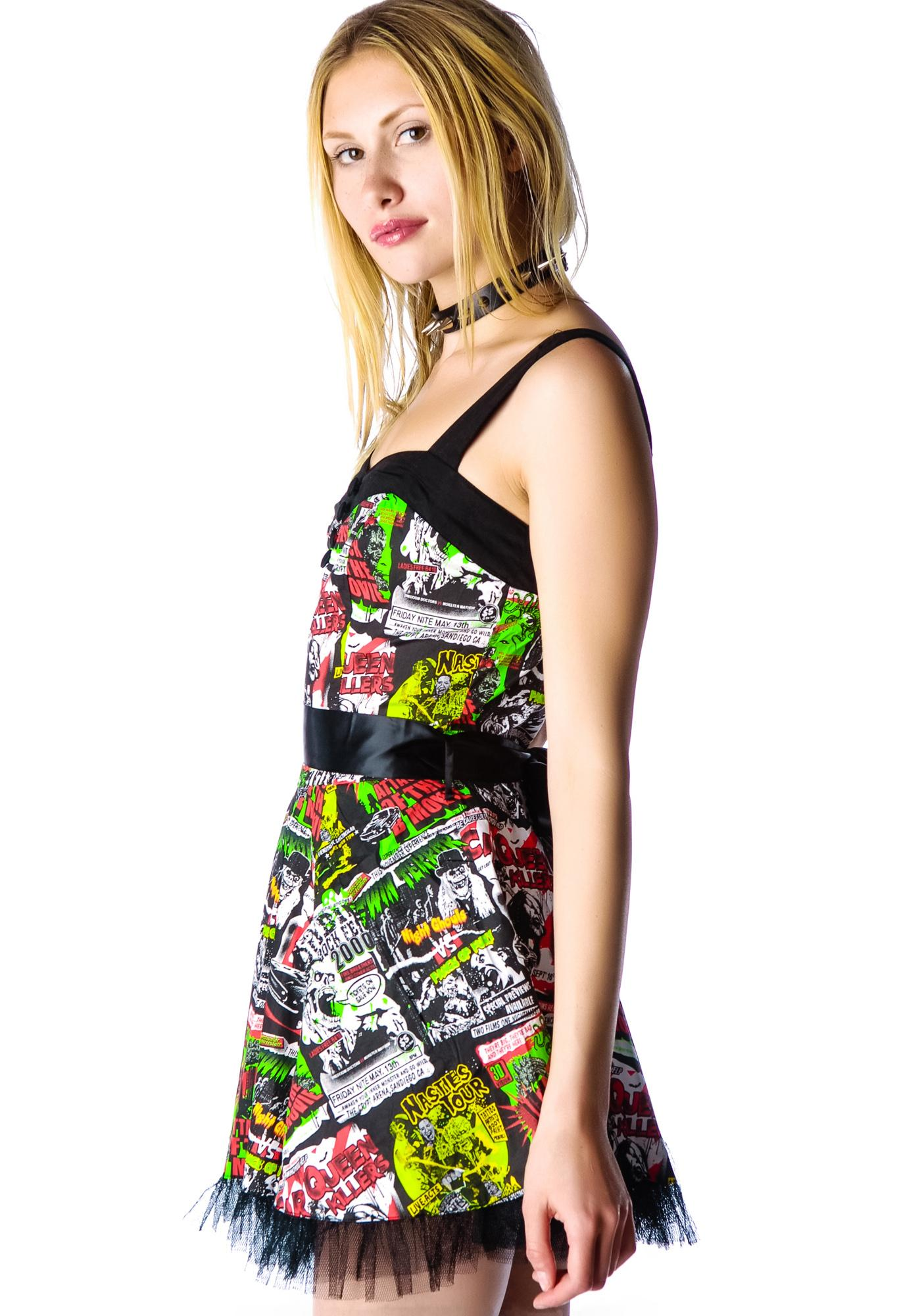 Hell Bunny B-Horror Movie Mini Dress