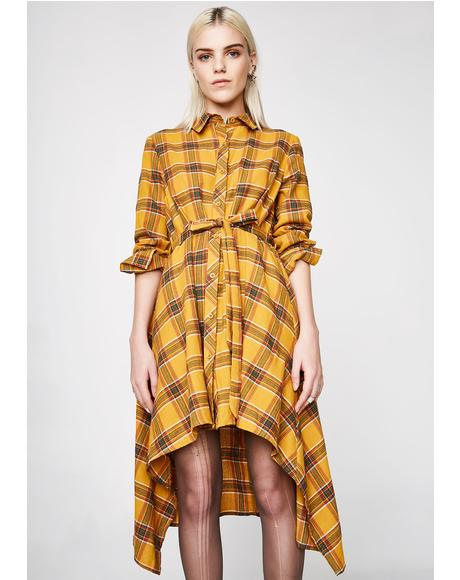 Tricks Of The Trade Plaid Tunic
