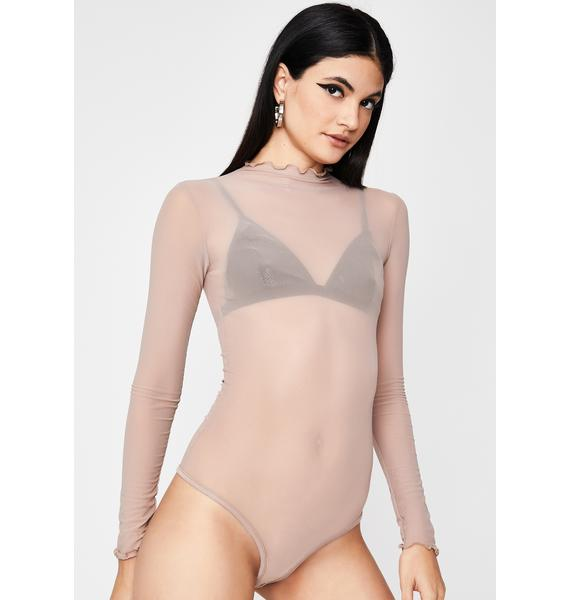 Nude Left My Mark Mesh Bodysuit