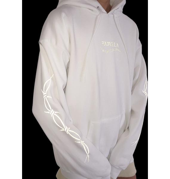 Petals and Peacocks Barb Wire 3M Hoodie
