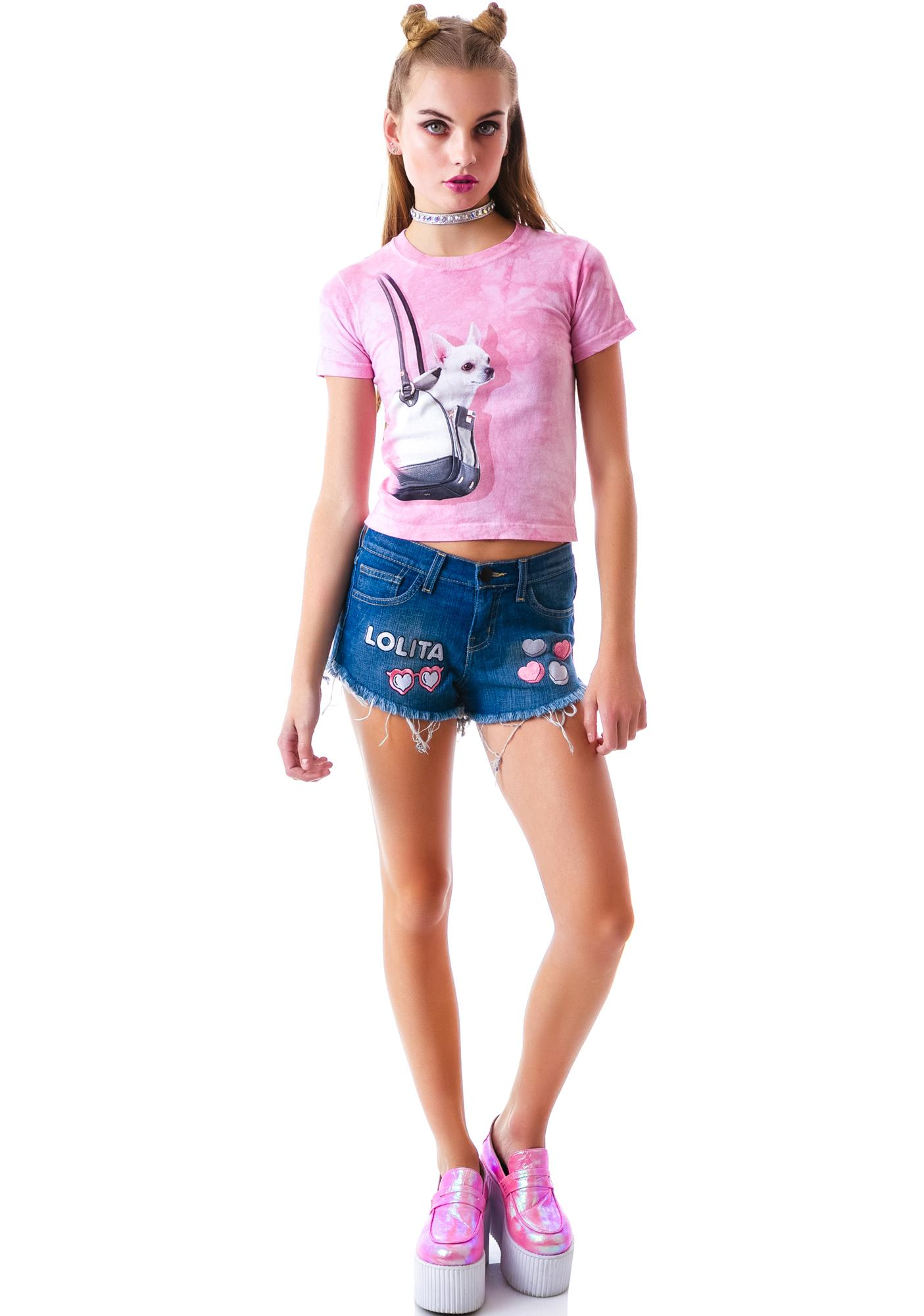 United Couture Lolita Denim Shorts