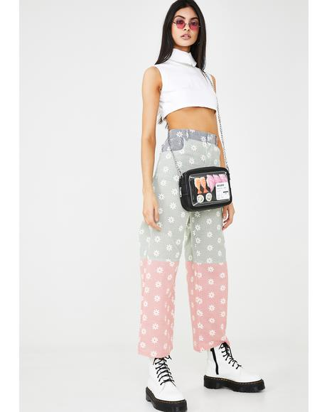 Reflective Daisy Print Trousers