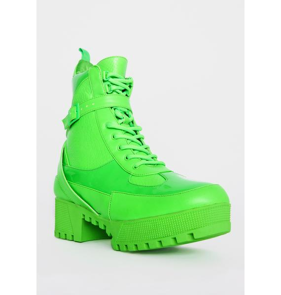 Nuclear Energy Boost Lace Up Boots