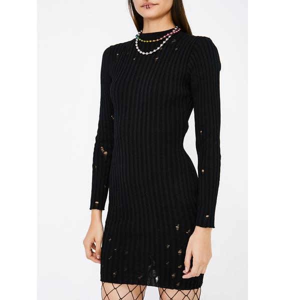 Rough Edges Knit Dress
