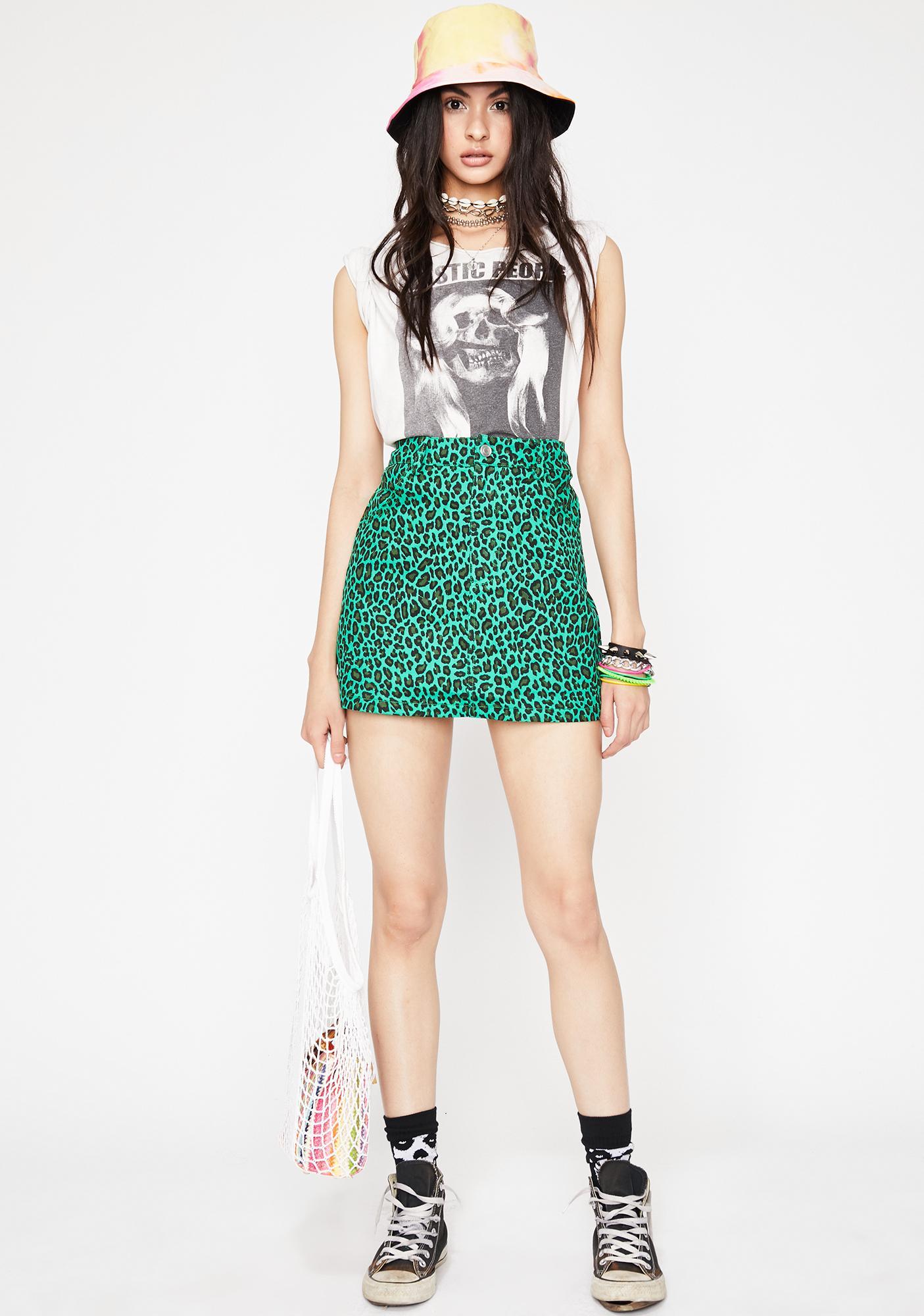 Kush Stunt Kitten Leopard Skirt