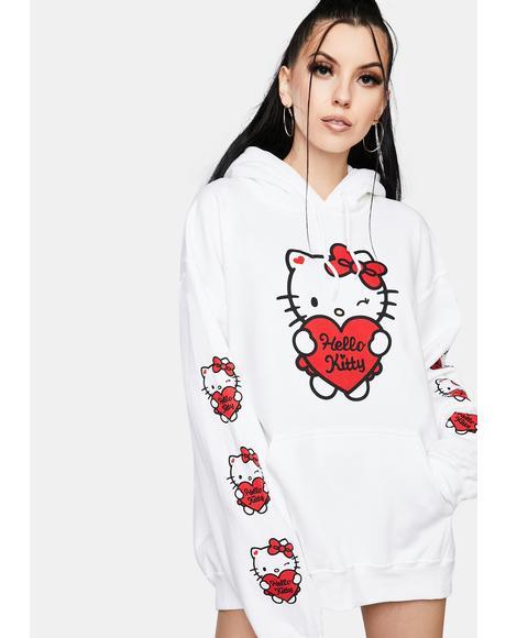 x Hello Kitty Oversized Graphic Hoodie