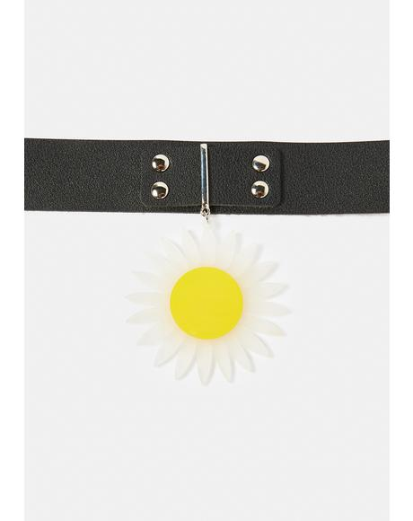 Bring The Good Vibes Sunflower Choker