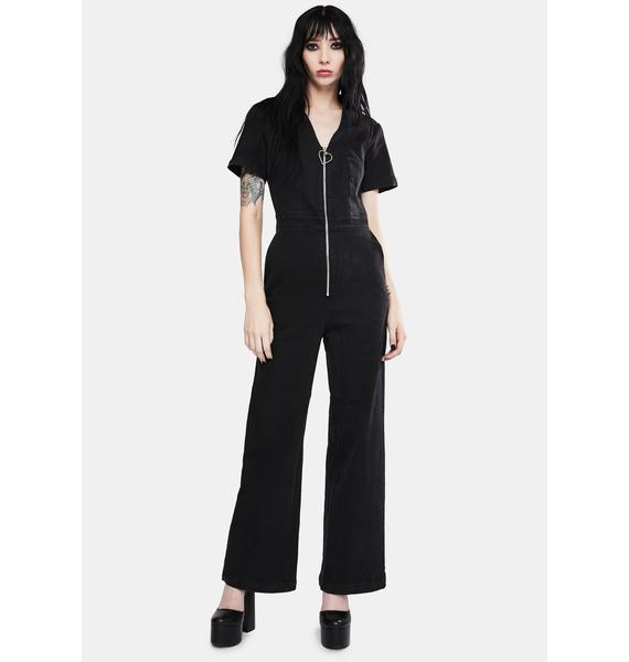 Jawbreaker No Heart Denim Jumpsuit