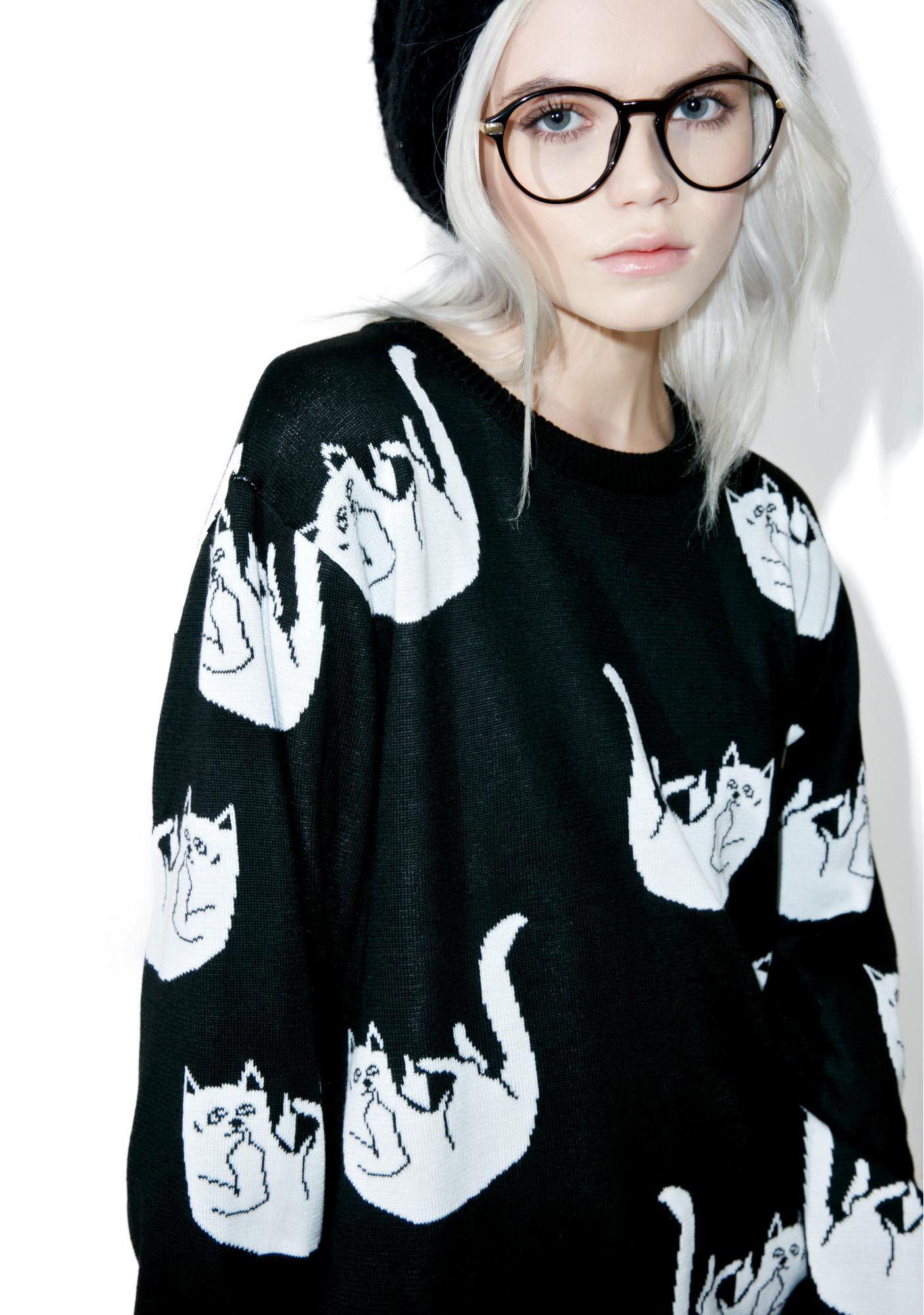 RIPNDIP Fallin' For Nermal Knit Sweater