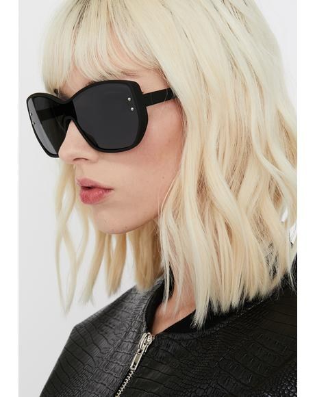 Midnight High Stakes Oversize Sunglasses