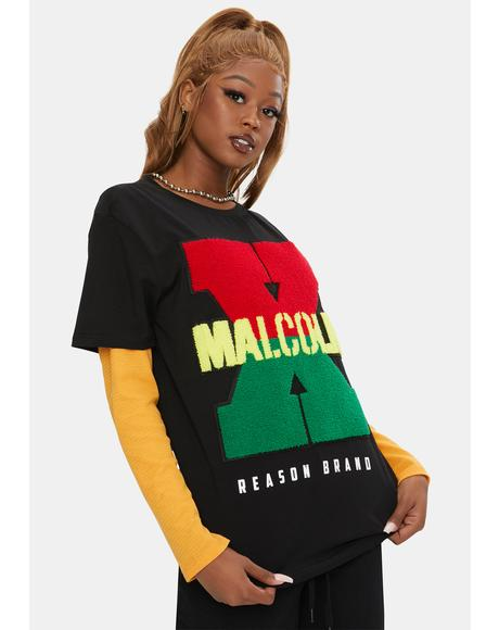 Malcolm X Chanille Graphic Tee