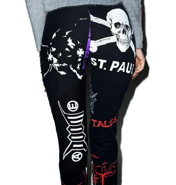 Hazmat Design Heavy Metal Leggings