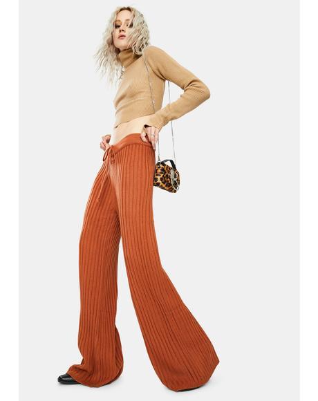 Rust Hendrix Knit Pants