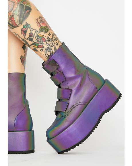 Eye Of The Storm Reflective Platform Boots