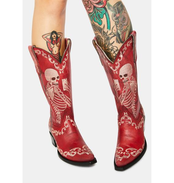OLD GRINGO Red Selfie Cowboy Boots