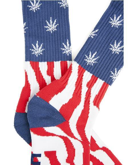 Legalize Freedom Crew Socks