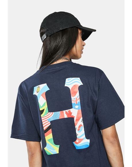 French Navy Global Trip Classic H Graphic Tee