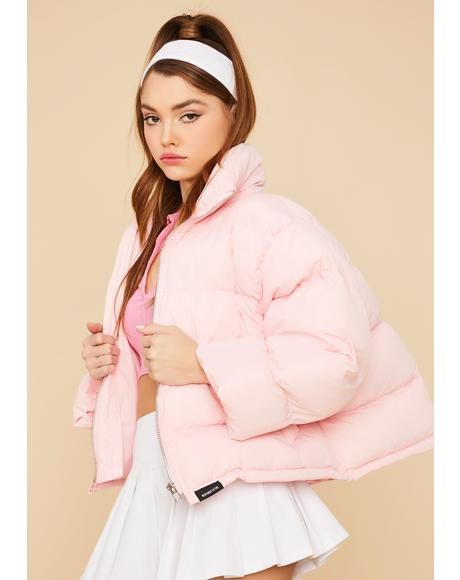 Sweet Cuddle Bug Cropped Puffer Jacket
