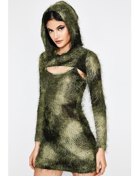 Lush Untamed Pleasures Hoodie Dress
