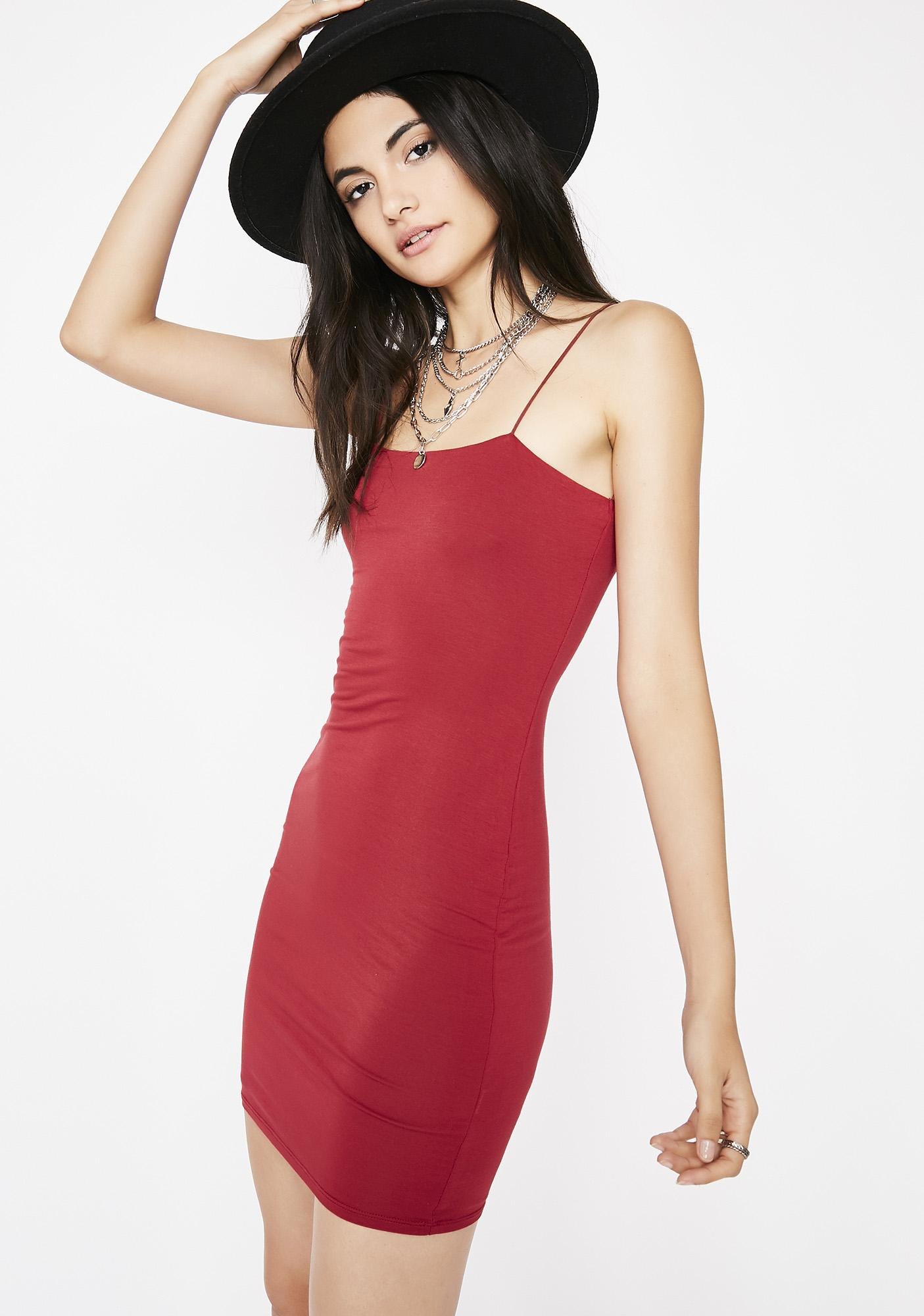 Hot Blooded Mini Dress