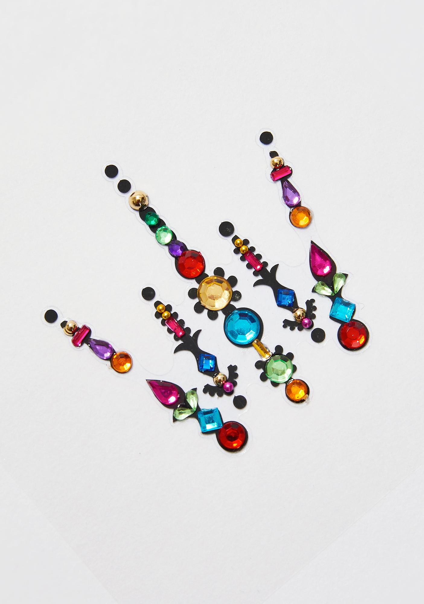 FunkOn Rainbow Unicorn Face Gems